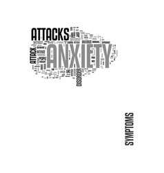 Anxiety attack text word cloud concept vector