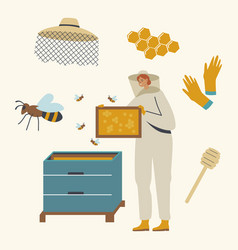 apiculture honey production beekeeping vector image