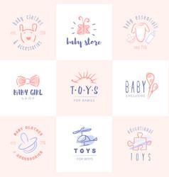 Baby logos set vector