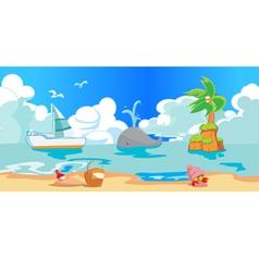 BeachBackground vector