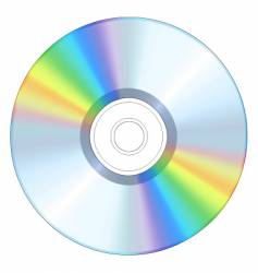 blank cd vector image