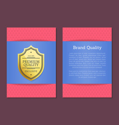 Brand quality poster premium choice since label vector