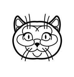 British shorthair cute vector