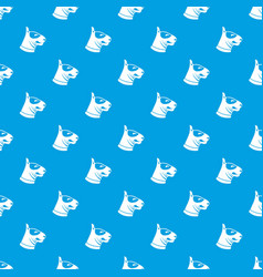 bull terrier dog pattern seamless blue vector image vector image
