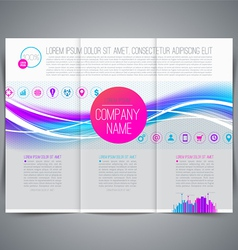 Business emplate leaflet page design vector