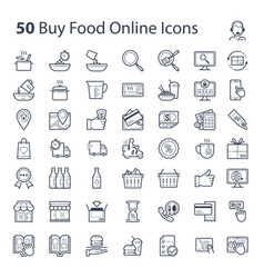 buy food online icons vector image