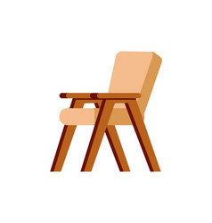 chair wooden furniture brown piece interior vector image