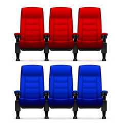 cinema empty comfortable chairs realistic movie vector image vector image
