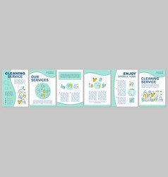 Cleaning service brochure template layout vector