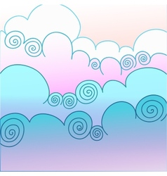Cloudy background vector