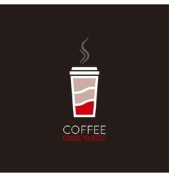 coffee cup energy concept design background vector image