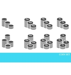 Coins Icons Set vector