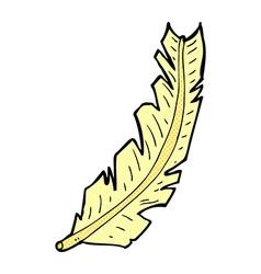 comic cartoon feather vector image