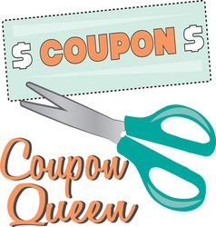 Coupon Queen vector image