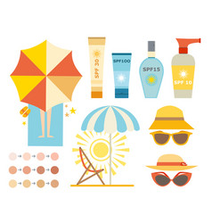 Cream sunscreen bottle icon sunblock vector
