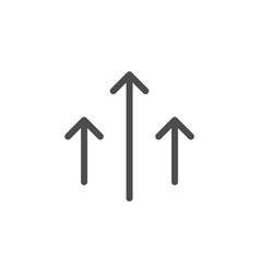 direction arrows line icon vector image