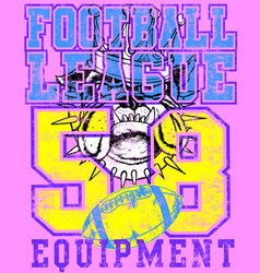 DOGS FOOTBALL LEAGUE vector image