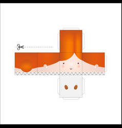 Doll paper model vector