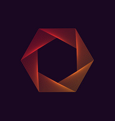 dynamic liner hexagonal shape abstract modern vector image