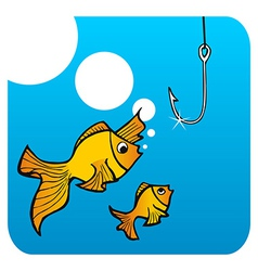 Fathers fish lesson vector image