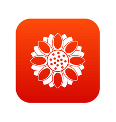 flower icon digital red vector image