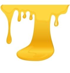 Flowing yellow honey vector
