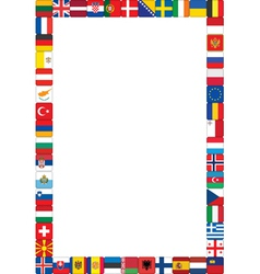 Frame made of flags vector