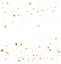 Gold stars confetti celebration falling golden vector