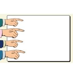 Hands index finger pointer poster vector