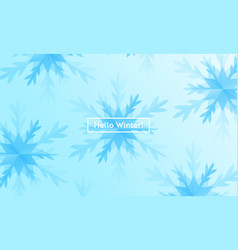 hello winter layout with snowflakes for web site vector image