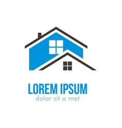 home abstract logo design vector image