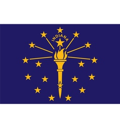 Indiana flag vector