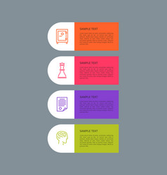 Infographic elements set grey vector