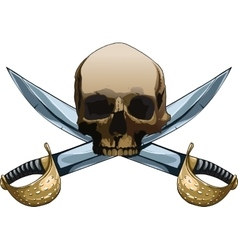 Jolly Roger with swords vector image