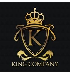 King company gold emblem design vector