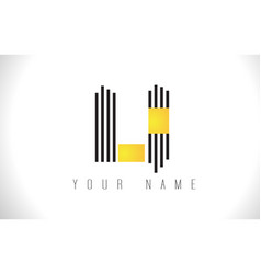 li black lines letter logo creative line letters vector image