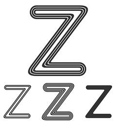 Line z letter logo design set vector