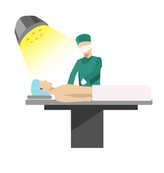 medical operation process with doctor vector image