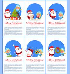 merry christmas santa maiden vector image