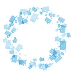 message blue frame vector image