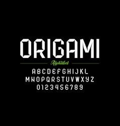Modern origami style font vector