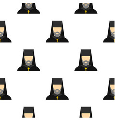 Orthodox priest pattern flat vector