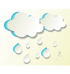 Paper cutout weather icons vector image