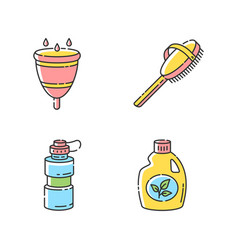 Personal eco products rgb color icons set vector