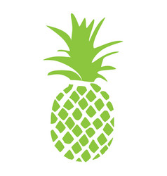 pineapple tropical fruit silhouette isolated on vector image
