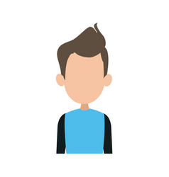 Portrait man people faceless style image vector