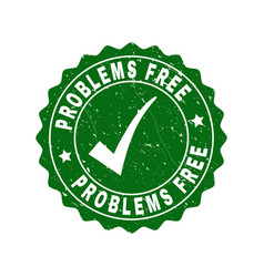 problems free grunge stamp with tick vector image