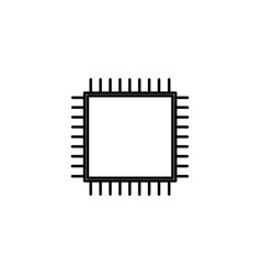 processor icon vector image