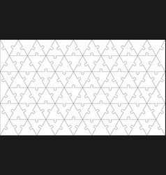 puzzles grid - blank template with triangle pieces vector image
