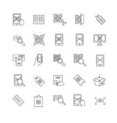qr code icons set vector image